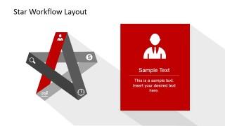 PowerPoint 5 Steps Start Diagram Businessman Edge