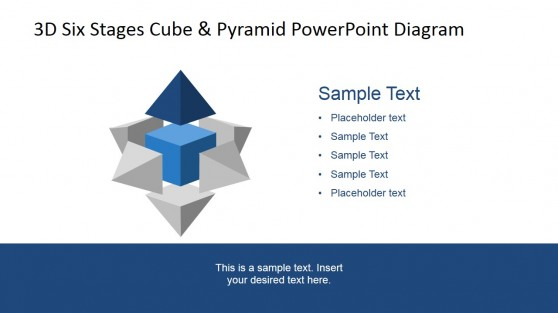 Top 3D Pyramid Six Staged PowerPoint Diagram
