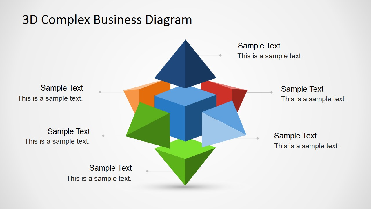 3d complex business diagram for powerpoint slidemodel 3d complex business diagram for powerpoint 3d shapes with pyramids on each side and cube in the middle ccuart Choice Image