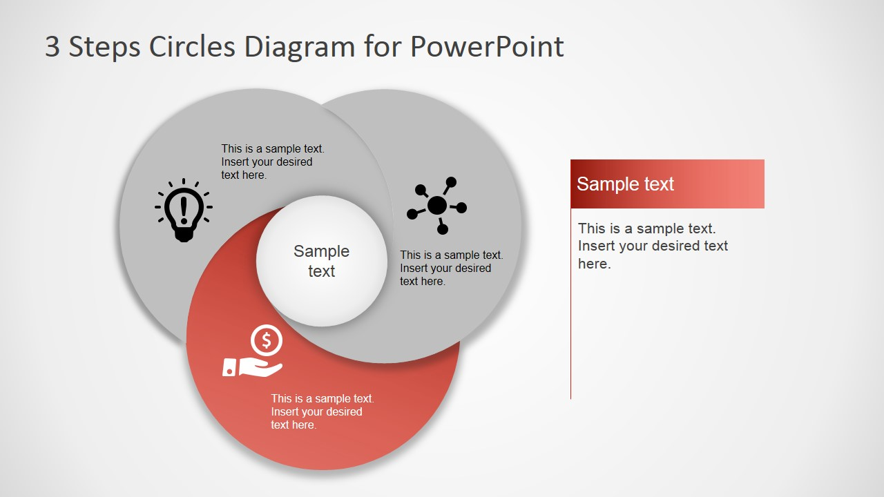 3 Step Circles Diagram for PowerPoint - SlideModel