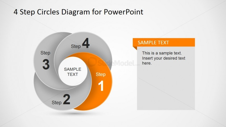 First Step Circular Dynamic Diagram Slide
