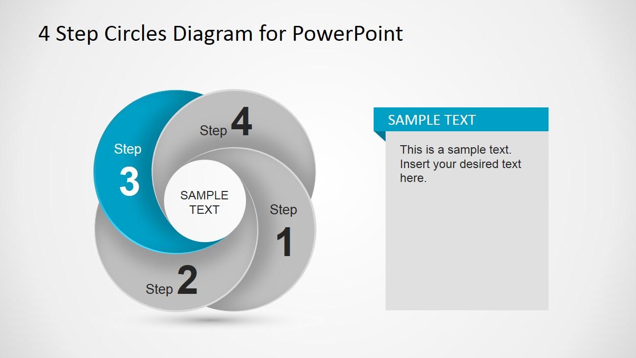 Third Step Circular Dynamic Diagram Slide