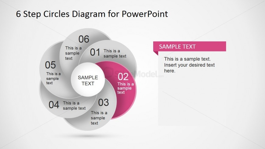 PowerPoint Highlighted Second Step Circular Diagram