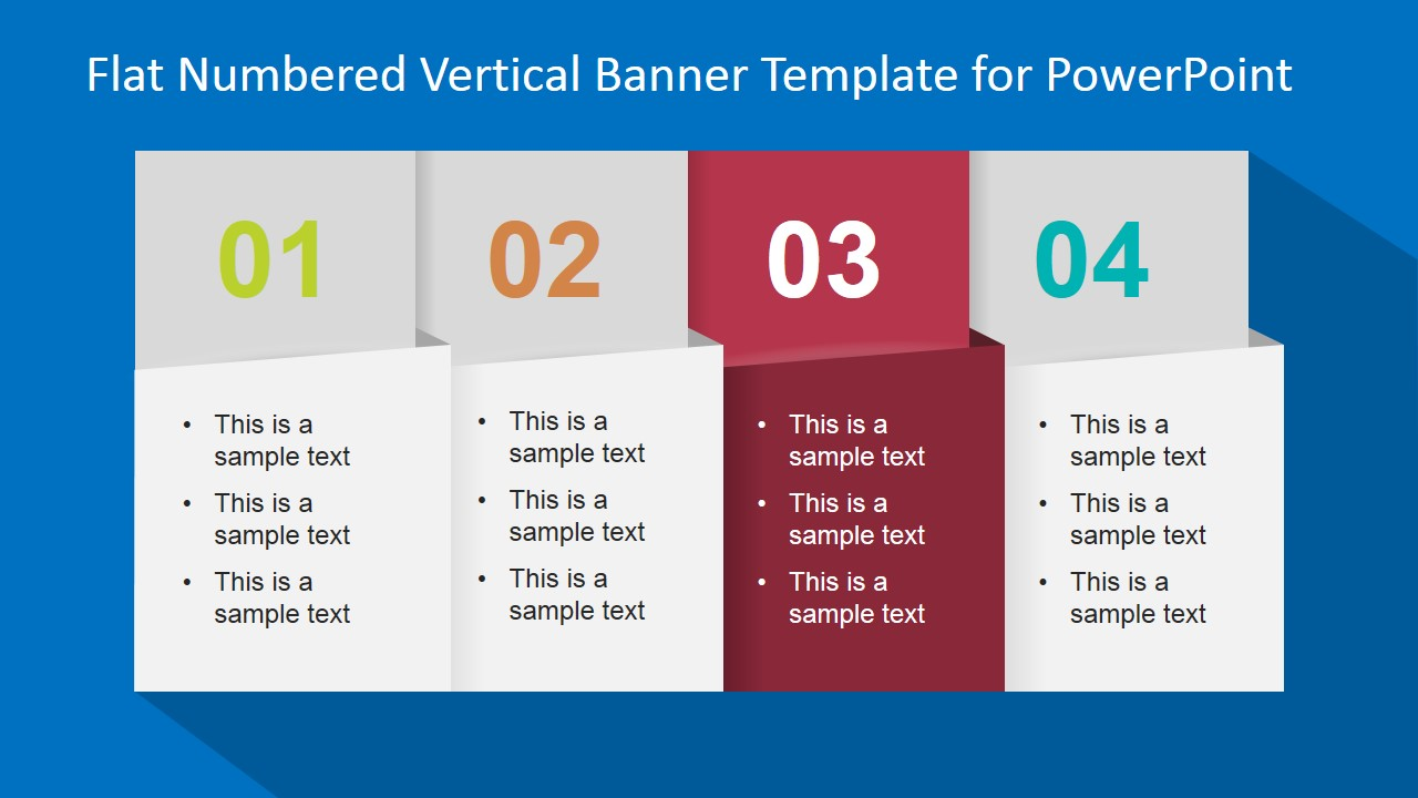 Flat Numbered Vertical Banner Template For Powerpoint Slidemodel