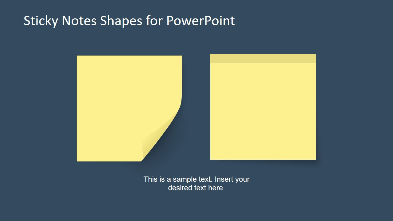 Sticky notes powerpoint template slidemodel 2 sticky note shapes in a powerpoint slide toneelgroepblik Gallery