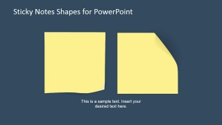 Two Sticky Notes (Post-It) Shapes for PowerPoint
