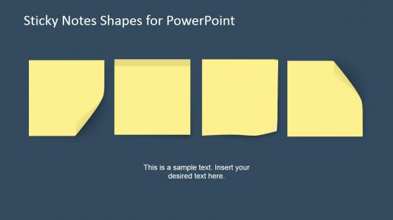 4 Creative Sticky Notes in a Slide for PowerPoint