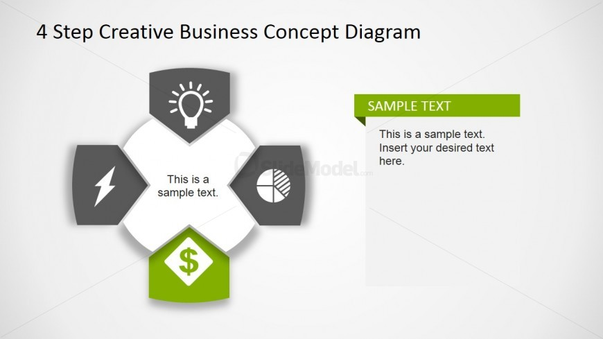 Creative Business Diagram - Money Sign Icon