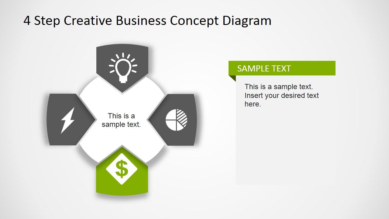 Creative Business Diagram - Money Sign Icon
