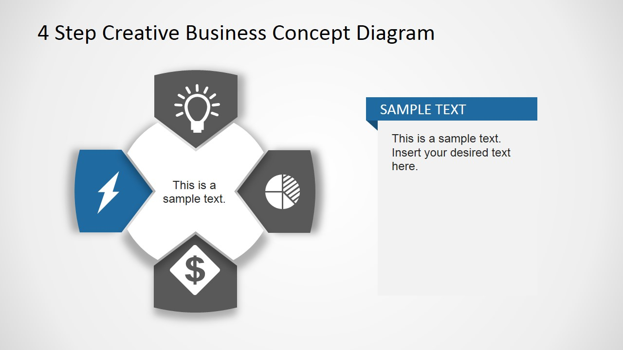 Creative Business Diagram - Thunderbolt Icon