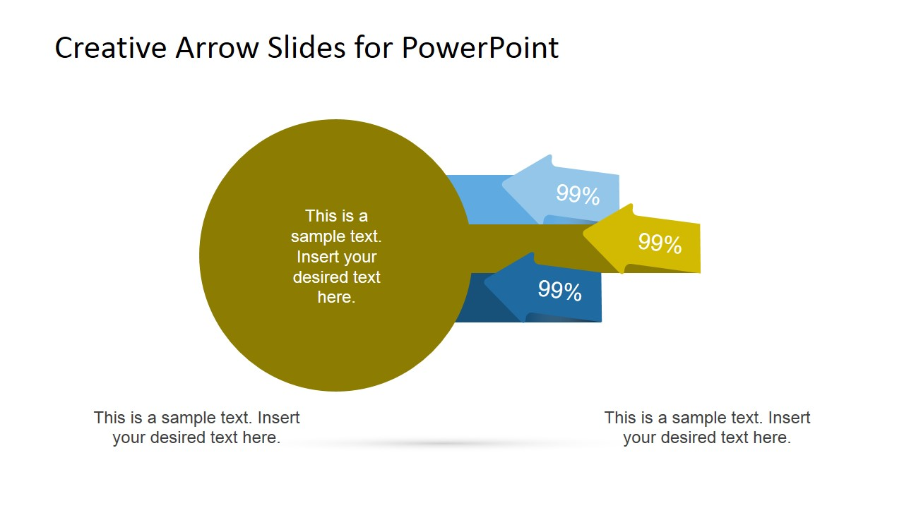 Circles Diagram with Arrows for PowerPoint 2 Step