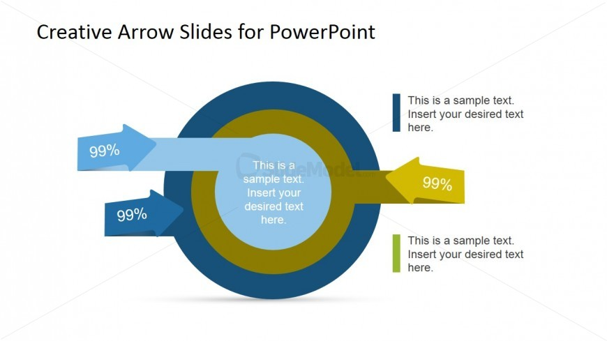 Multi Layered Diagram with Arrows for PowerPoint