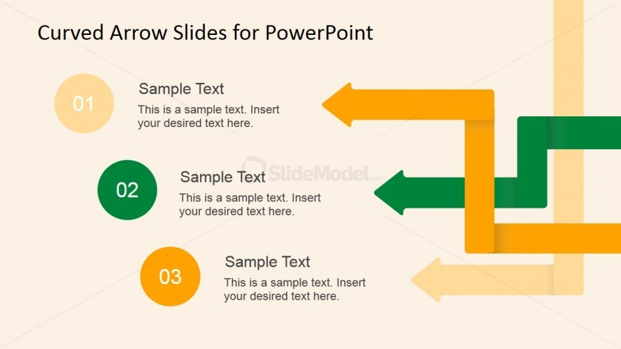 PowerPoint Template Design for a 3 Step Process