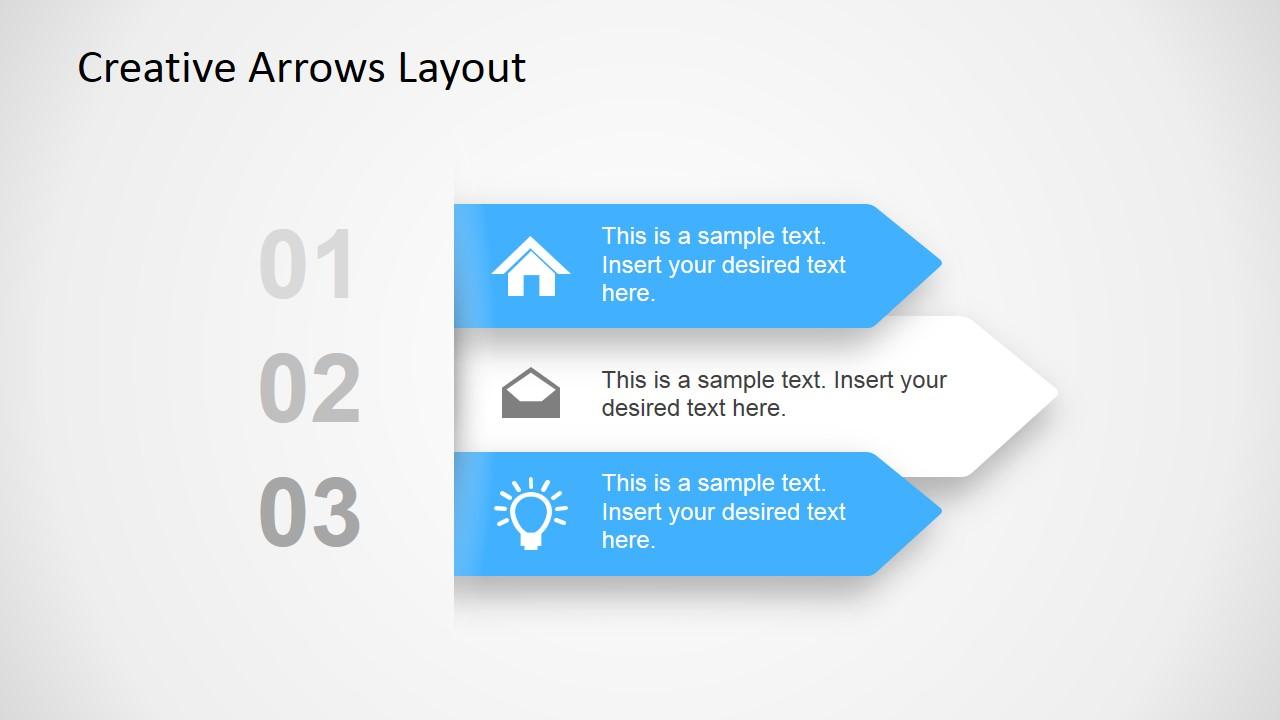 Creative Arrow Layout on Pie Chart Color Palette