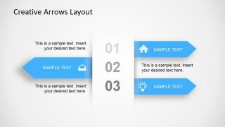 3 Step Creative Arrow Diagram for PowerPoint