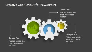 3 Gears - Gear Layout for PowerPoint