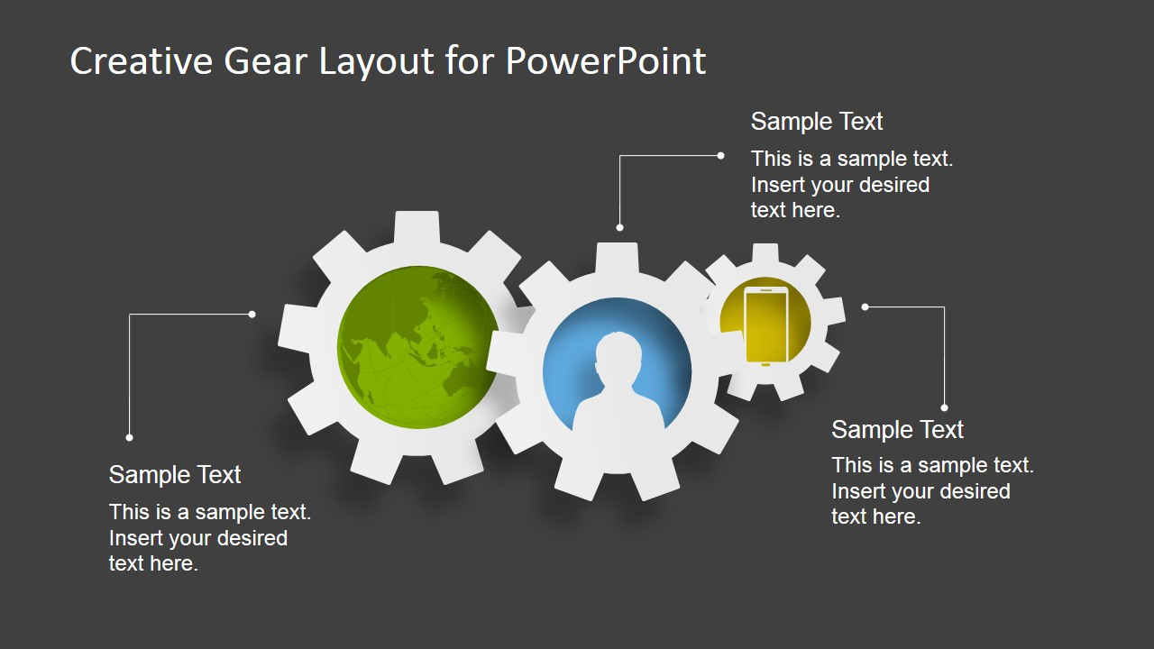 Creative Gear Layout PowerPoint Template - SlideModel