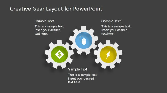3 Gear Shapes for PowerPoint