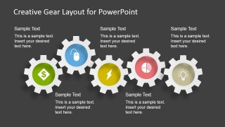 5 Gears - Gear Layout for PowerPoint