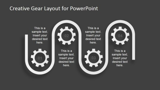 Gear Process Layout for PowerPoint