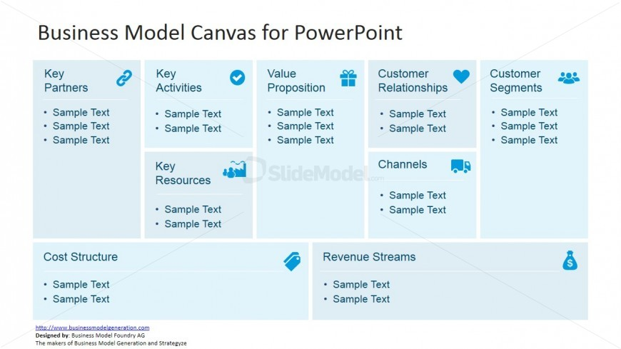 business management canvas for powerpoint - slidemodel, Powerpoint templates