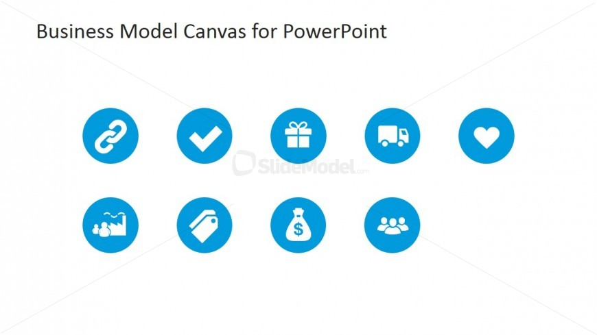 Business Model Canvas Clipart Icons