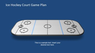 3-Dimentional Ice Hockey Court for PowerPoint