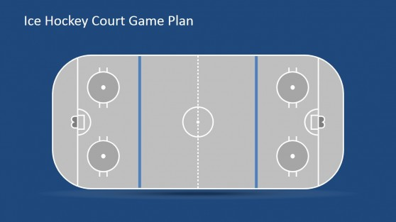 Flat Game Court with Goal