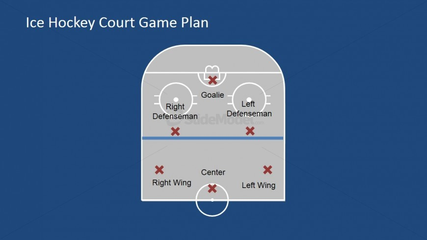Single Half Court with Player Icons