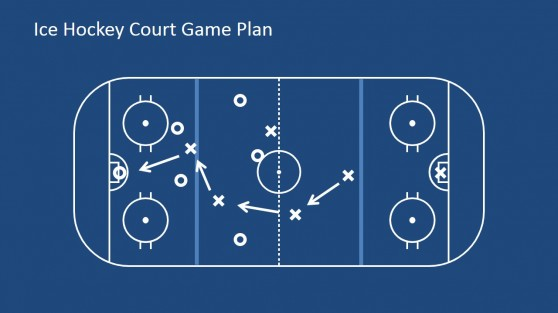 Court with Game Plan Illustration