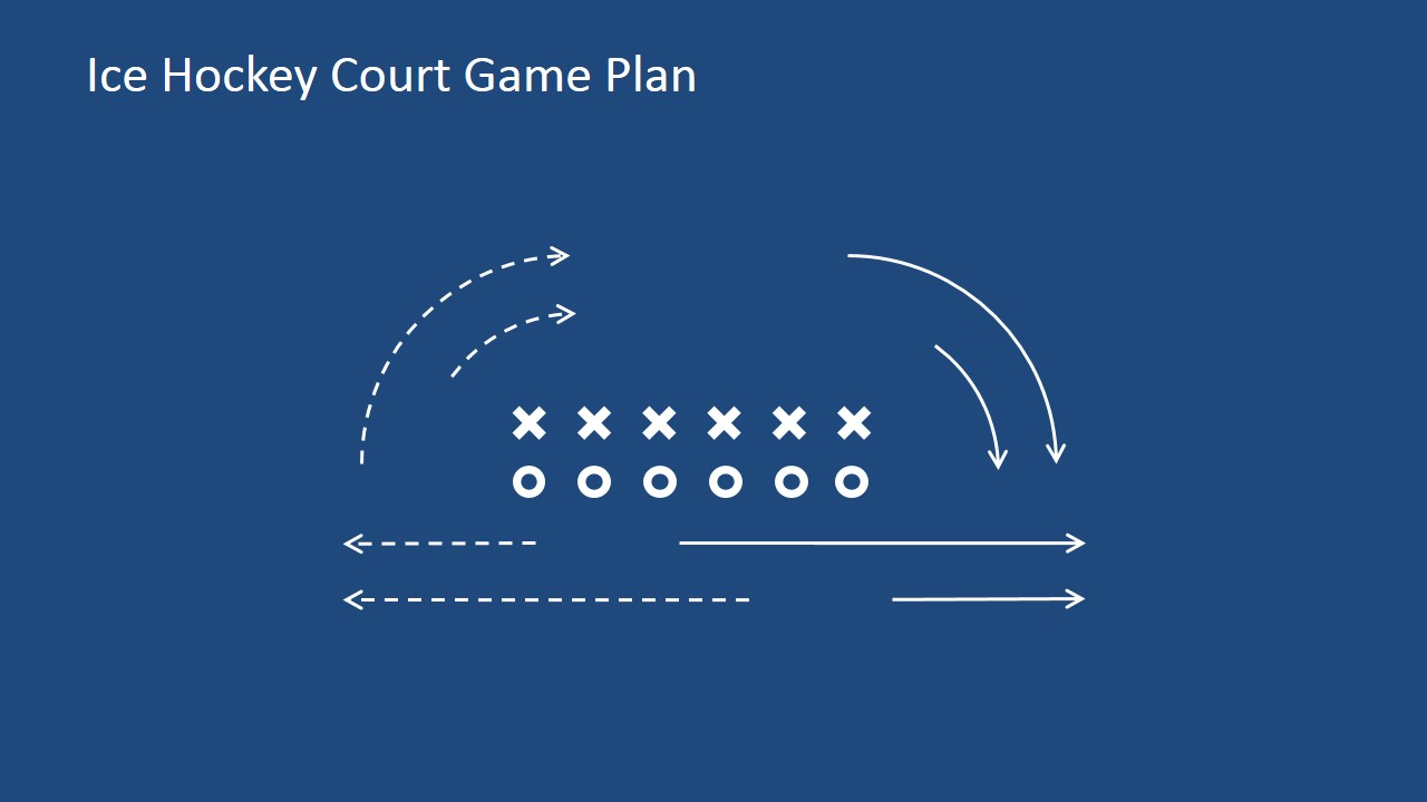 Ice hockey court game plan for powerpoint slidemodel toneelgroepblik Choice Image