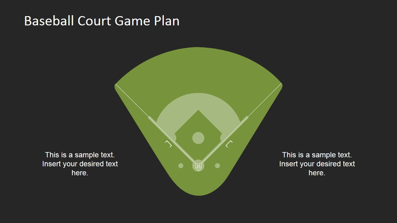 Baseball Court Clipart with Placeholders
