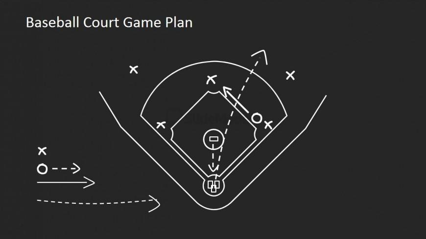 Black and White Flat Baseball Strategy