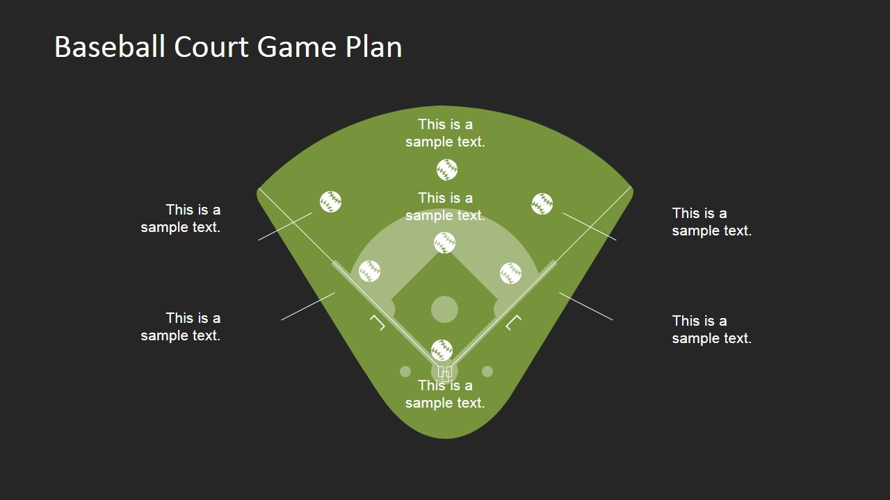 baseball court game plan powerpoint template - slidemodel, Powerpoint templates