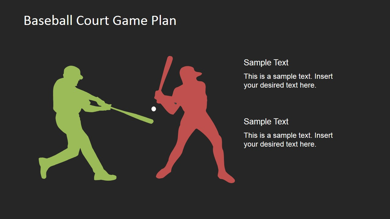Baseball Players PowerPoint Silhouettes