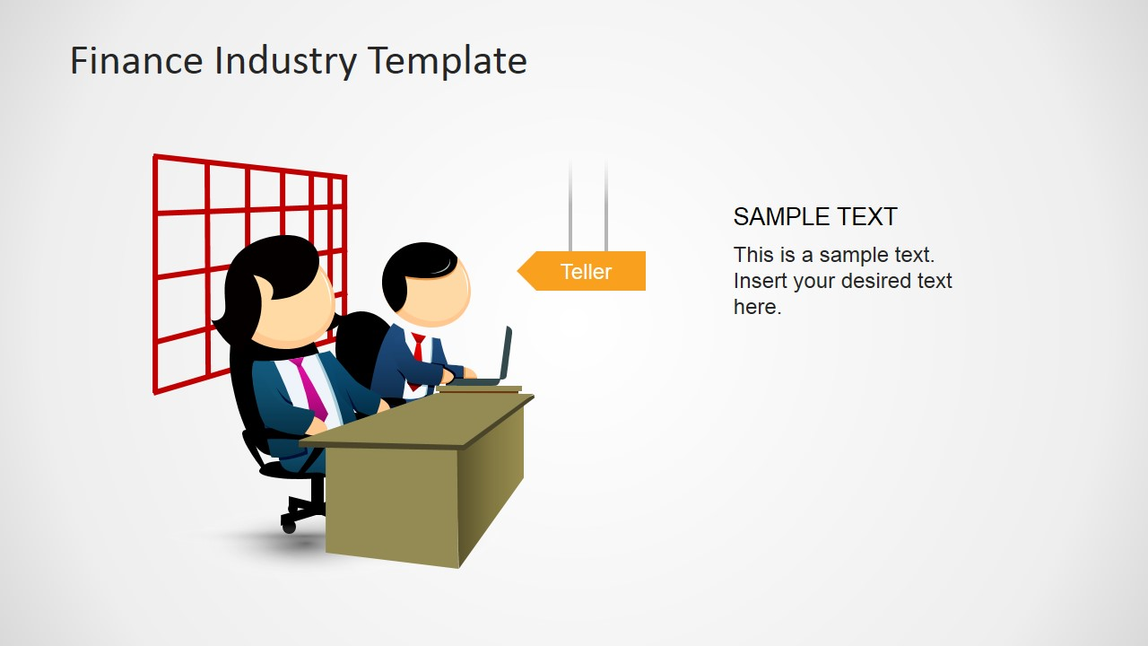 Mike and Jane PowerPoint Clipart Bank Teller