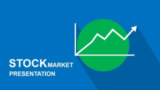 Title Slide with Line Chart Green Circle Icon