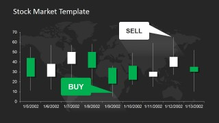 Black Background Candlestick Chart