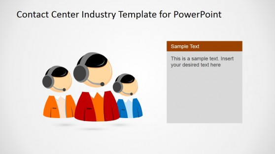 Contact Center Teamwork Template for PowerPoint