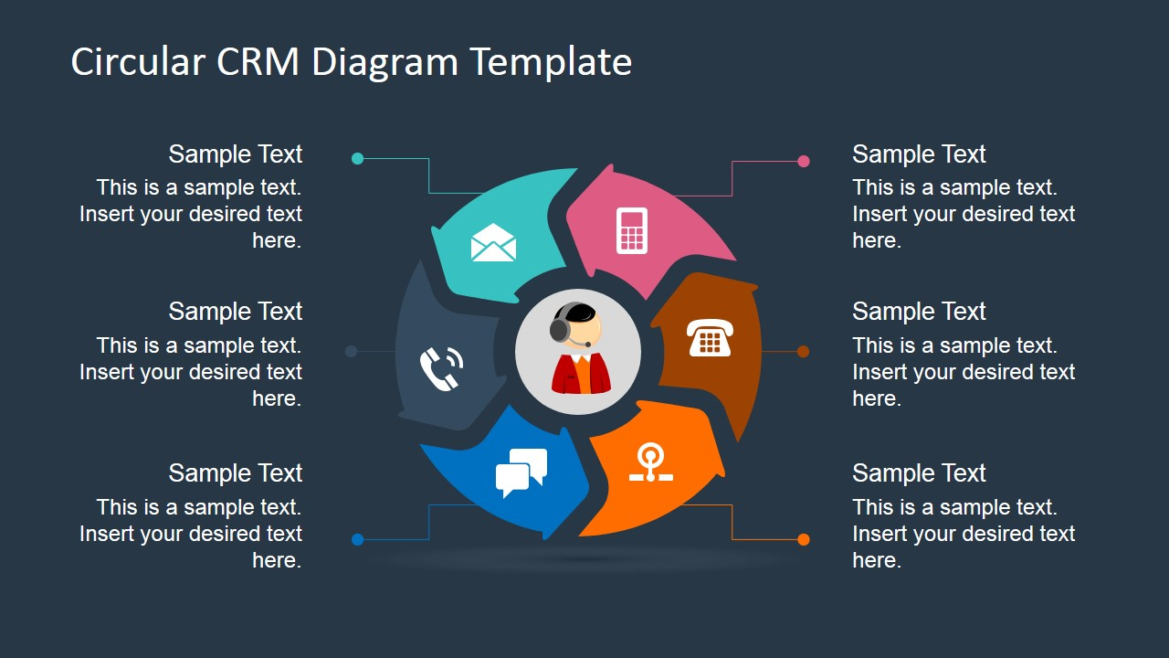 Crm Application Diagrams Reinvent Your Wiring Diagram 810501stardiagramtemplate3 Slidemodel 6 Steps Circular For Powerpoint Rh Com Flow Chart Process