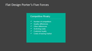 PowerPoint Porter's 5 Forces Competitive Rivalry