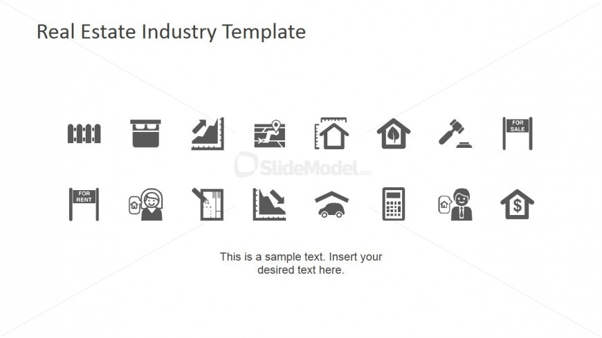 PowerPoint Icons featuring Real Estate Industry