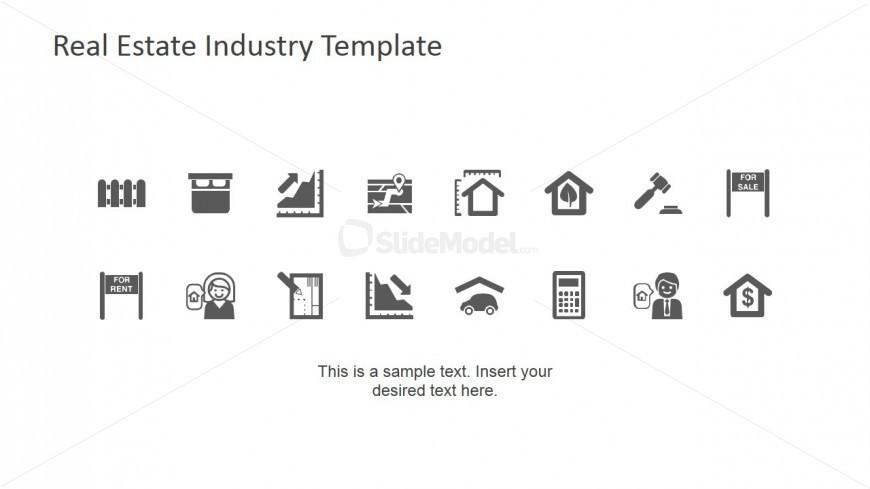Real Estate Icons for PowerPoint - SlideModel