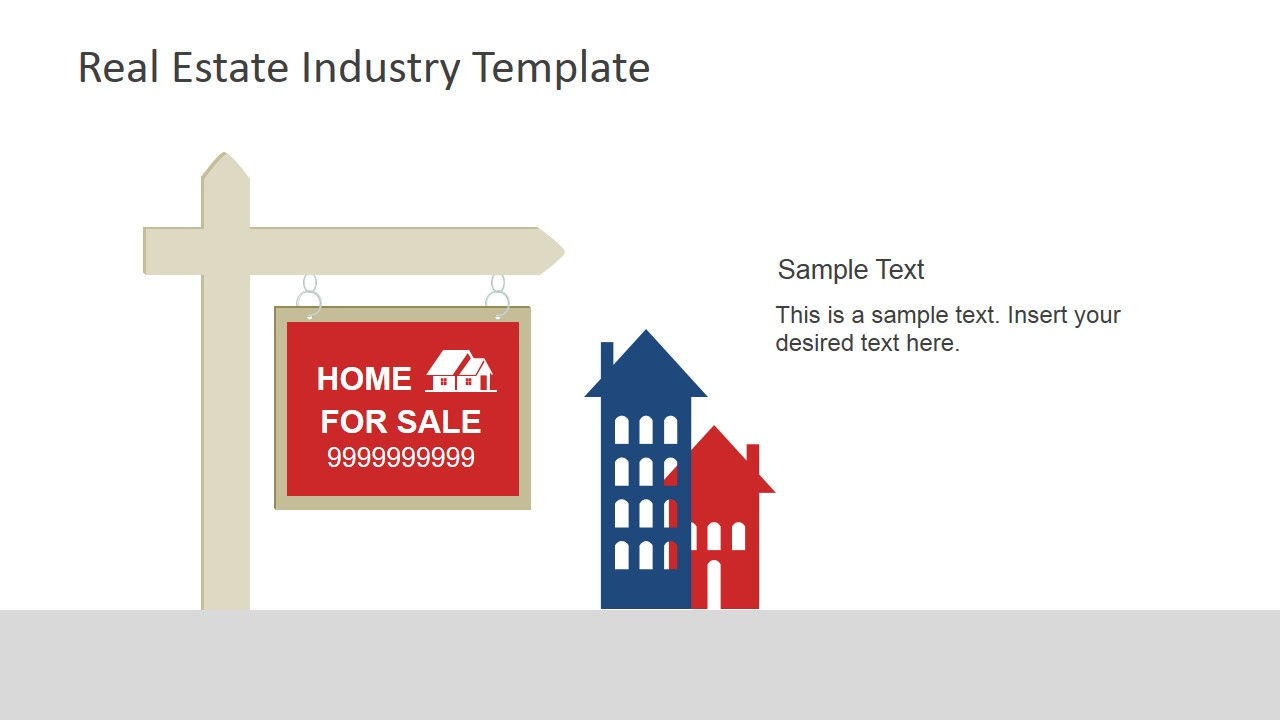 real estate industry powerpoint template - slidemodel, Modern powerpoint
