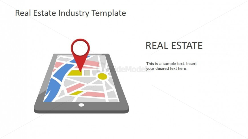 Real Estate Map with GPS in Mobile Device