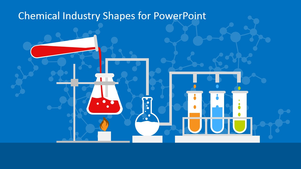 chemical industry shapes for powerpoint - slidemodel, Powerpoint templates