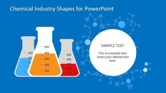 Flat Design Test Tube Shapes for PowerPoint