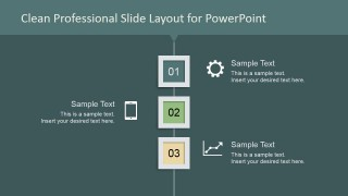Clean Professional Slide Design Steps 1 to 3
