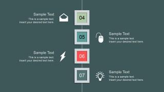 Clean Professional Slide Design Steps 4 to 7