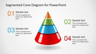 4 Level 3D Segmented Cone Diagram